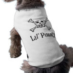 Little pirate dog tee with scull and crossbones