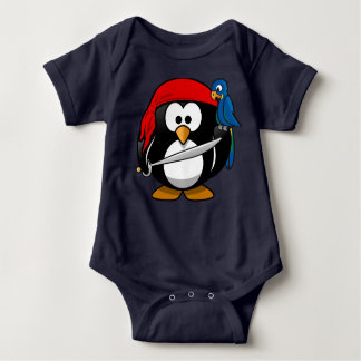 Little Pirate Penguin Baby Outfit Baby Bodysuit