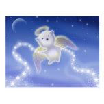 Little Polar Bear Angel Holiday Postcard