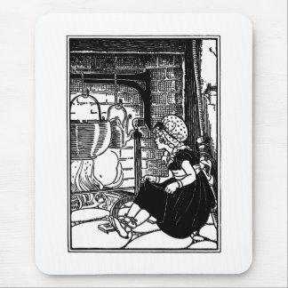 Little Polly Flinders Nursery Rhyme Mouse Pads