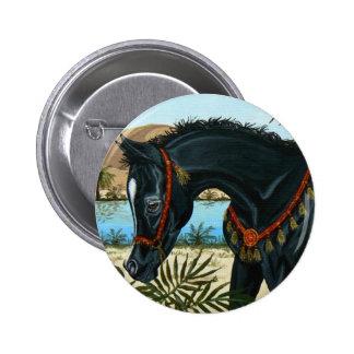 Little Prince Arabian horse foal button