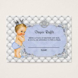 Little Prince Baby Blue Diaper Raffle Ticket