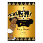 Little Prince Baby Shower Boy Crown Gold Ethnic 13 Cm X 18 Cm Invitation Card