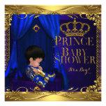 Little Prince Baby Shower Boy Regal Blue Crown 5 Invitations