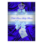 Little Prince Baby Shower Boy Royal Blue 2 Custom Invitations