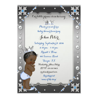 Little Prince Baby Shower Invitation,trendy,chic. Card