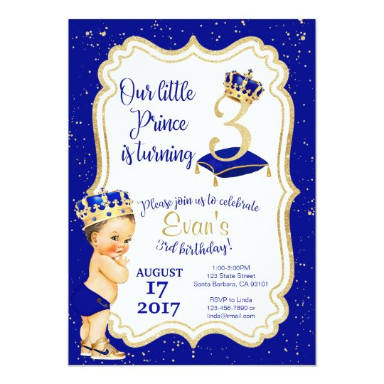 Little prince birthday invitation 3rd birthday invitation zazzle little prince birthday invitation 3rd birthday invitation filmwisefo