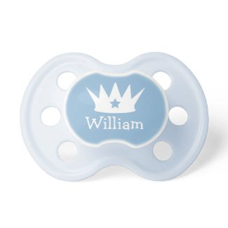 Gifts for babies baby accessories baby clothing little prince custom blue baby pacifier negle Image collections
