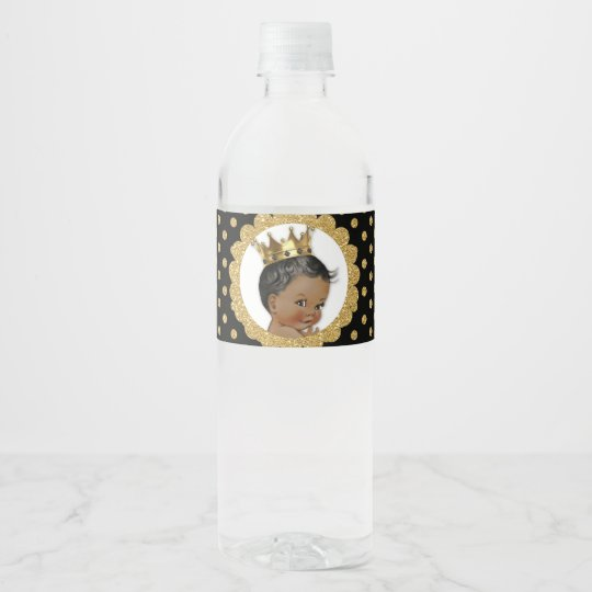 Little Prince Ethnic Crown Black & Gold Water
