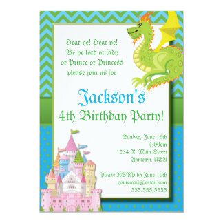 Little Prince Fairy Tale Party Invitation