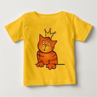 Little Prince Kitten Cat with Crown - Baby Shirt