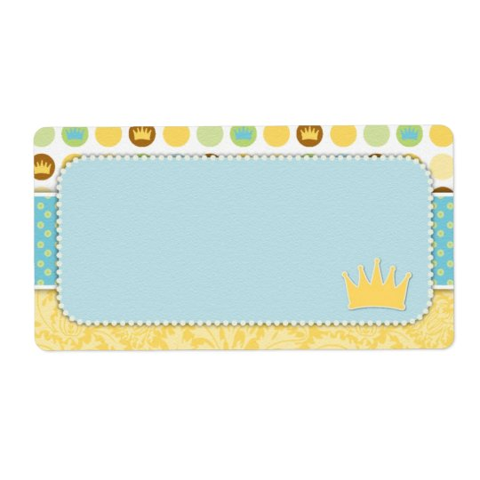 Little Prince Name Tag Shipping Label