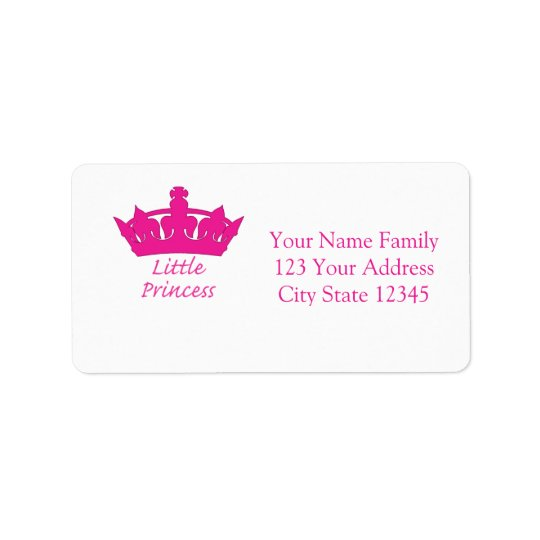 Little Princess - A Royal Baby Address Label