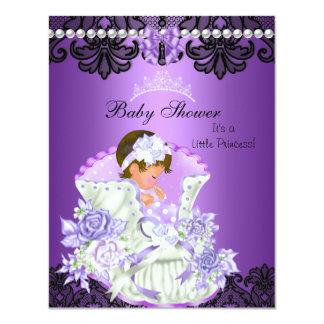 Little Princess Baby Shower Girl Purple Tiara Personalized Invitation