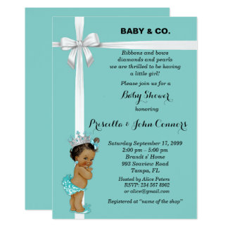Little Princess Baby Shower Invitation,mint Card