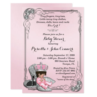 Little Princess Baby Shower Invitation,pink Card