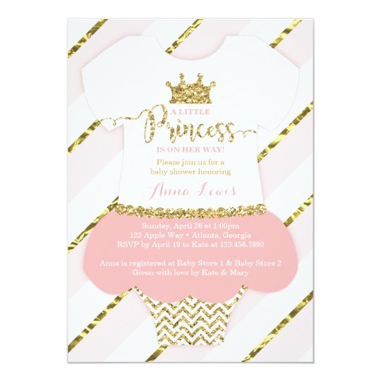 Little princess baby shower invite faux glitter card zazzle little princess baby shower invite faux glitter card stopboris Images