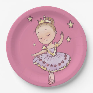 Little Princess Ballerina Paper Plate