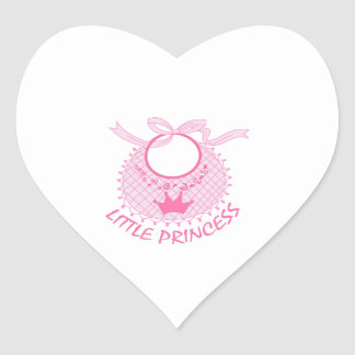 LITTLE PRINCESS BIB HEART STICKERS