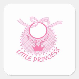 LITTLE PRINCESS BIB SQUARE STICKER