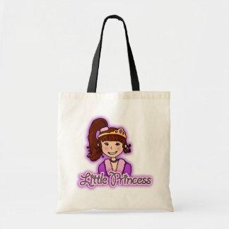 """""""Little Princess"""" brunette hair girl bag"""