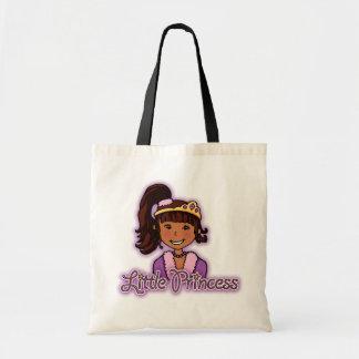 """Little Princess"" dark hair girl bag"