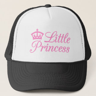 Little princess, design with pink crown for baby trucker hat