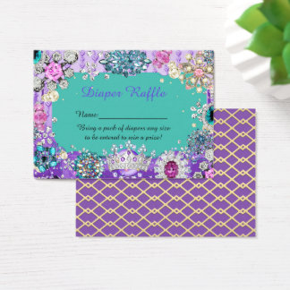 Little Princess Diaper Raffle Tickets, jewelry Business Card
