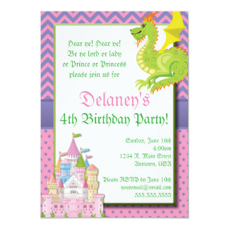 Little Princess Fairy Tale Party Invitation