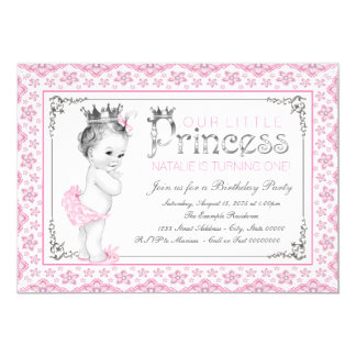 Little Princess First Birthday Party 13 Cm X 18 Cm Invitation Card
