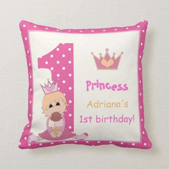 Little princess, girls 1st birthday pink polka dot