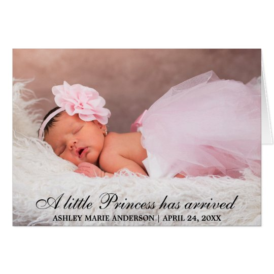 Little Princess New Baby Announcement Folded Card