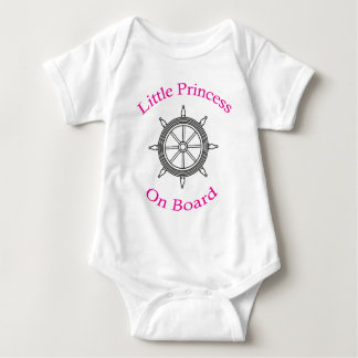 """LITTLE PRINCESS ON BOARD"" BABY BODYSUIT"