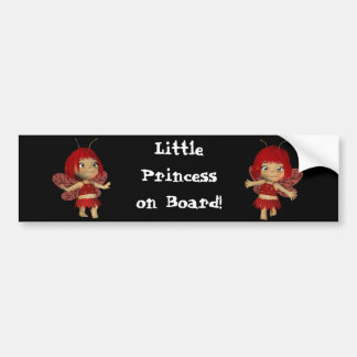 Little Princess on Board Safety Bumper ssticker Bumper Sticker