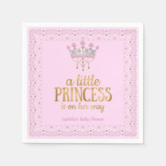 Little Princess on her way Pink Gold Tiara