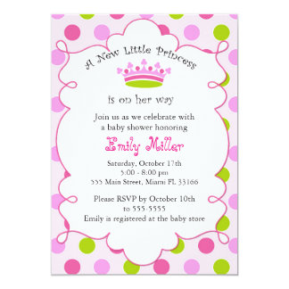 Little Princess Pink Baby Shower Party Invitation
