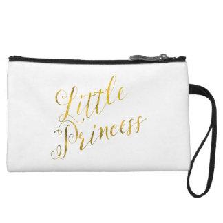 Little Princess Quote Faux Gold Foil Glitter Wristlet