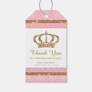 Little Princess Royal Pink Gold Favor Tag