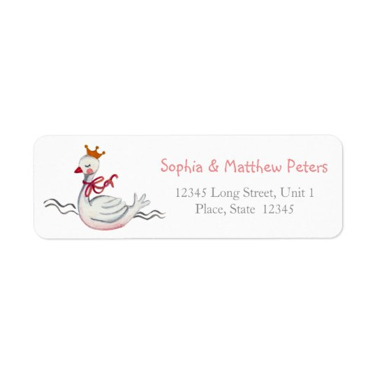 Little princess Swan | Return Address Labels