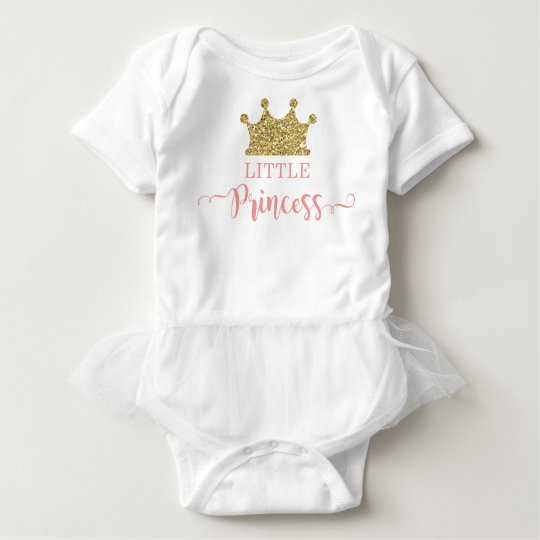 Little Princess Tutu Bodysuit, Pink and Gold Baby