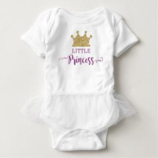 Little Princess Tutu Bodysuit, Purple and Gold Baby Bodysuit