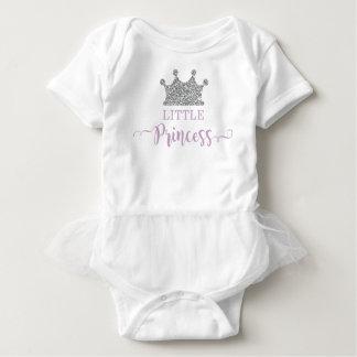 Little Princess Tutu Bodysuit, Purple and Silver Baby Bodysuit