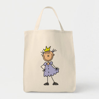 Little Princess With Crown Canvas Bags