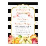 Little Pumpkin Autumn Stylish Fall Baby Shower 13 Cm X 18 Cm Invitation Card