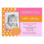 Little Pumpkin BIrthday Party Invitations