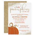Little Pumpkin Fall Baby Shower Invitation
