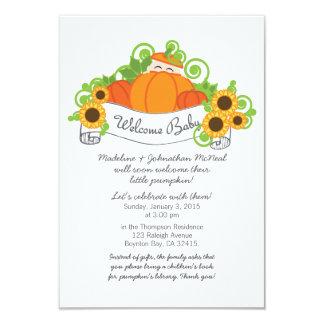 little pumpkin FALL BABY SHOWER invitation lt skin