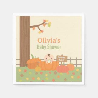 Little Pumpkin Fall Themed Baby Shower Supplies Disposable Serviette