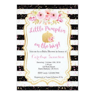 Little Pumpkin on the Way, Baby Shower Invitation