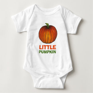 Little Pumpkin Orange Pumpkins Autumn Fall Harvest Baby Bodysuit